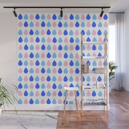 Colored Dropping Wall Mural