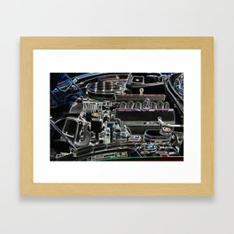 The Image Of A Car Engine Compartment Framed Art Print
