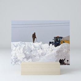 Coastal Snowbank Mini Art Print