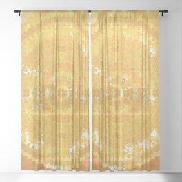 Yellow Monterey Mandala Sheer Curtain