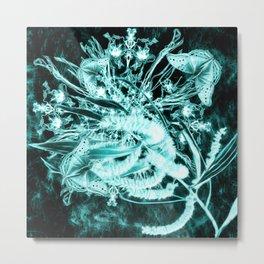 abstract butterflies and wattle bouquet Metal Print