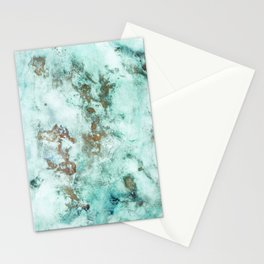 MARBLE - INKED INCEPTION - GOLD & ICE Stationery Cards