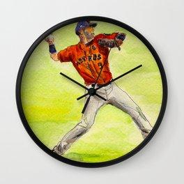 Marwin González - Astros Outfielder Wall Clock