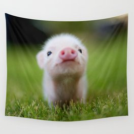 Little Pig Wall Tapestry
