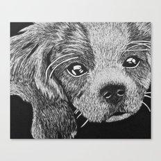 Cavalier puppy Canvas Print