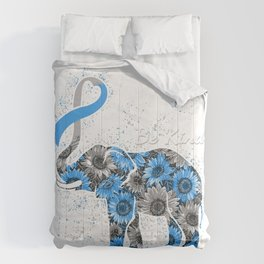 Diabetes Type 1 Awareness Sunflower Elephant Be Kind T-Shirt Comforters