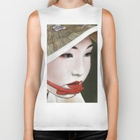 geisha Biker Tanks featuring Geisha by Andrea Maiorana