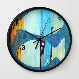 Who's looking? Blue version Wall Clock