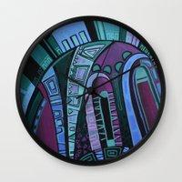 neon Wall Clocks featuring NEON by Deyana Deco