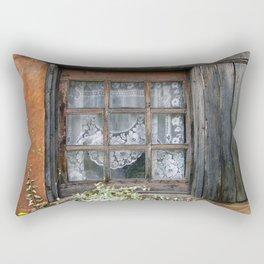 Window at Old Santa Fe Rectangular Pillow