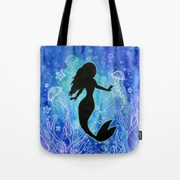 Mermaid Watercolor Underwater Tote Bag