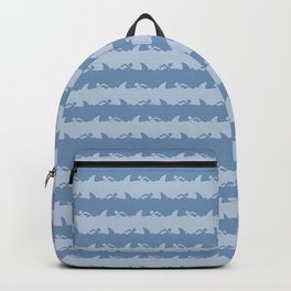 Bondi Beach Blue Grey Shark Attack Beach Stripe Backpack