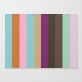 CONCEPTUAL : Cyan Ochre Nadeshiko Pink Cyan Ecru Purple Taupe Umber Aquamarine Lavender Canvas Print