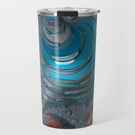 Oil Spot Light - Fractal Art Travel Mug