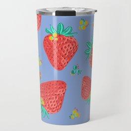 Strawberries | Purple Travel Mug