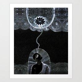 Divine Lotus  Art Print