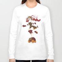 roller derby Long Sleeve T-shirts featuring Roller Derby Kicks Ass by Luckyirishlass