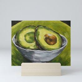 Original Painting Healthy Sliced Avocado Mini Art Print