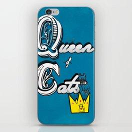 cat queen iPhone Skin