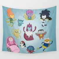 bmo Wall Tapestries featuring X-Men Adventures in The Land Of Ooo. by MattBlanksArt
