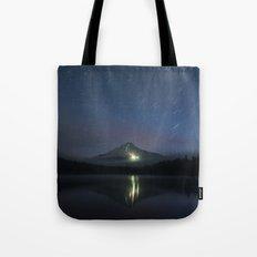 Lights on Mount Hood Tote Bag