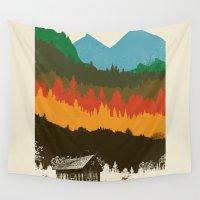 hunting Wall Tapestries featuring Hunting Season by dan elijah g. fajardo