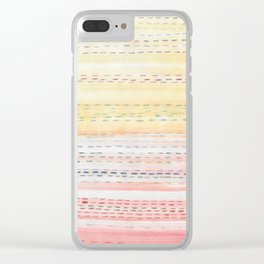 Sunset Stitch Clear iPhone Case