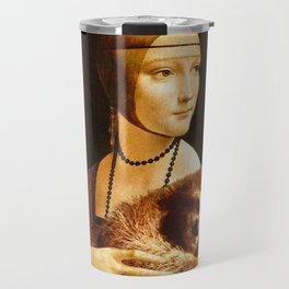 Lady with a Sloth Travel Mug