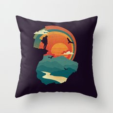Cliffs Edge Throw Pillow