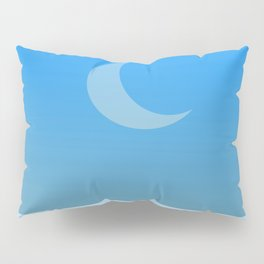 Waning moon by day Pillow Sham