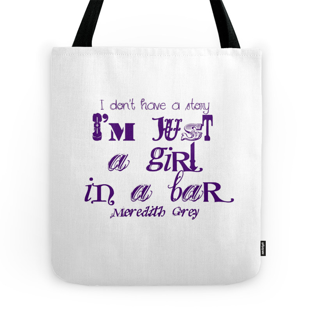 Just A Girl In A Bar Tote Purse by cgaff (TBG7650716) photo