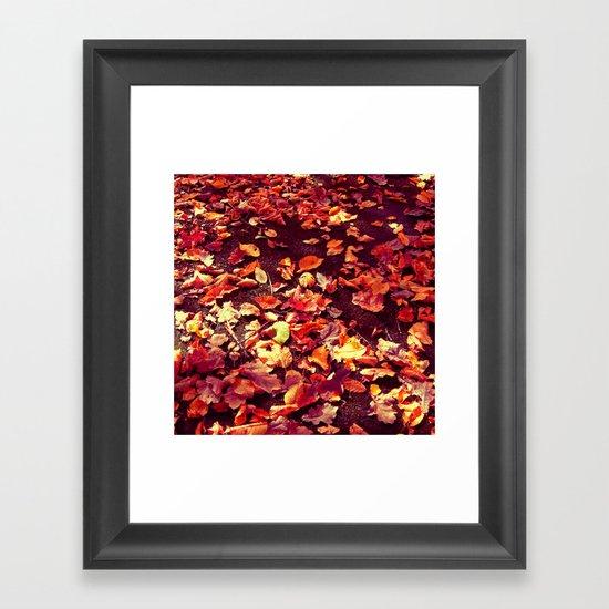 autumn path abstract I Framed Art Print