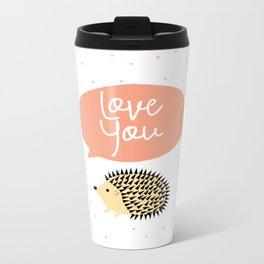 Hedgegog love Metal Travel Mug