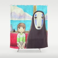 spirited away Shower Curtains featuring Spirited Away by Janice Wong