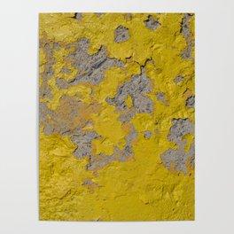 Yellow Peeling Paint on Concrete 1 Poster
