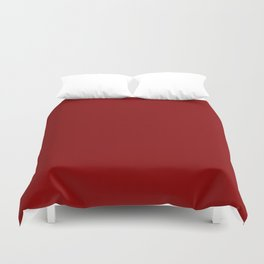 Deep Red - solid color Duvet Cover