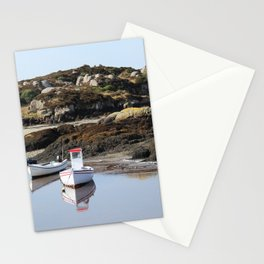 Boats at Cruit Island Donegal Stationery Cards