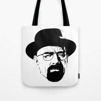 heisenberg Tote Bags featuring Heisenberg by Renan Lacerda