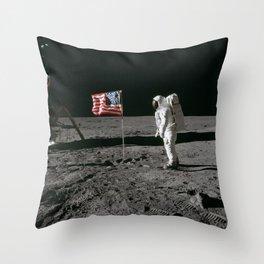 Man on the Moon Apollo 11 Throw Pillow