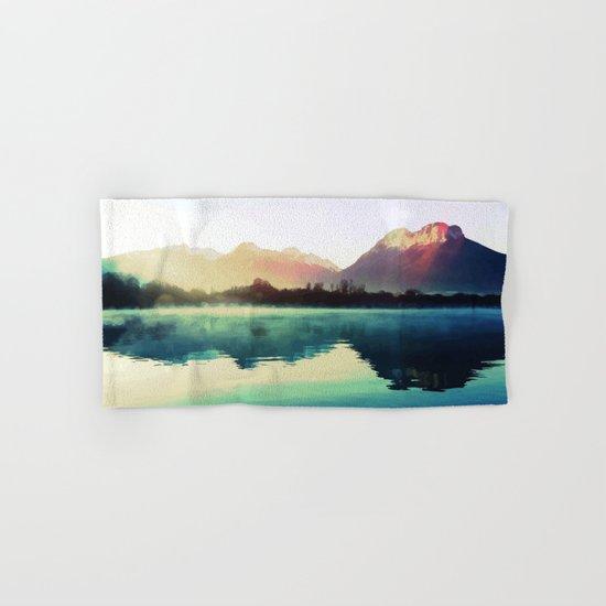 Mountains #watercolor Hand & Bath Towel