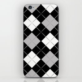 Checkered background iPhone Skin