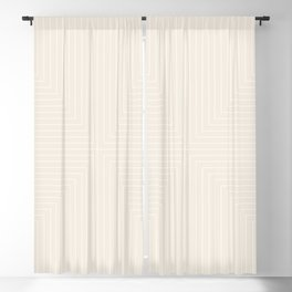 Angular Lines III Subtle Off White Blackout Curtain