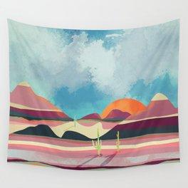 Pink Desert Glow Wall Tapestry