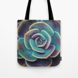 Purple & Blue Succulent Tote Bag