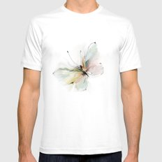 butterfly MEDIUM White Mens Fitted Tee
