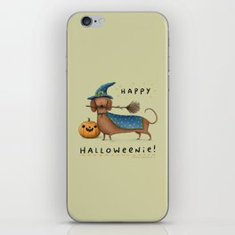 Happy Halloweenie! iPhone Skin