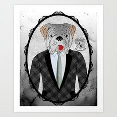 Mr. Dandy - English Bulldog Art Print