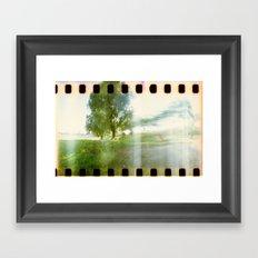fade out Framed Art Print