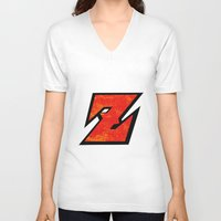 dbz V-neck T-shirts featuring DBZ by Bradley Bailey