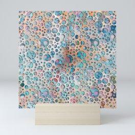 Rainbow soap bubbles- watercolor circles art print Mini Art Print